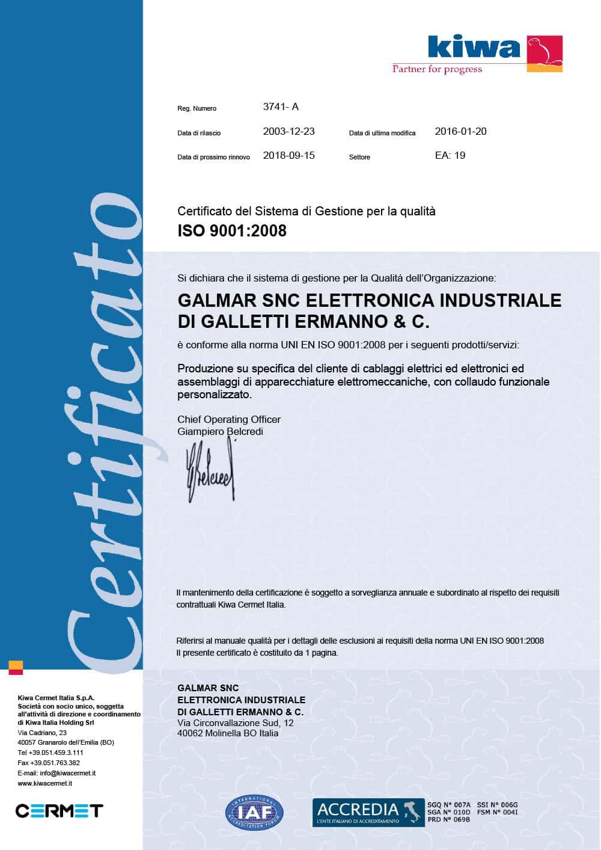 certificato-galmar-cavi-per-automazione-macchine-elettromedicali-elettronica-cablaggi-Ferrara-bologna-emilia-romagna