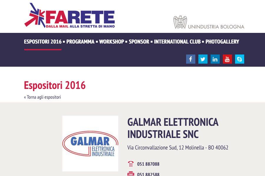 """Present at """"Farete 2016"""" BolognaFiere"""