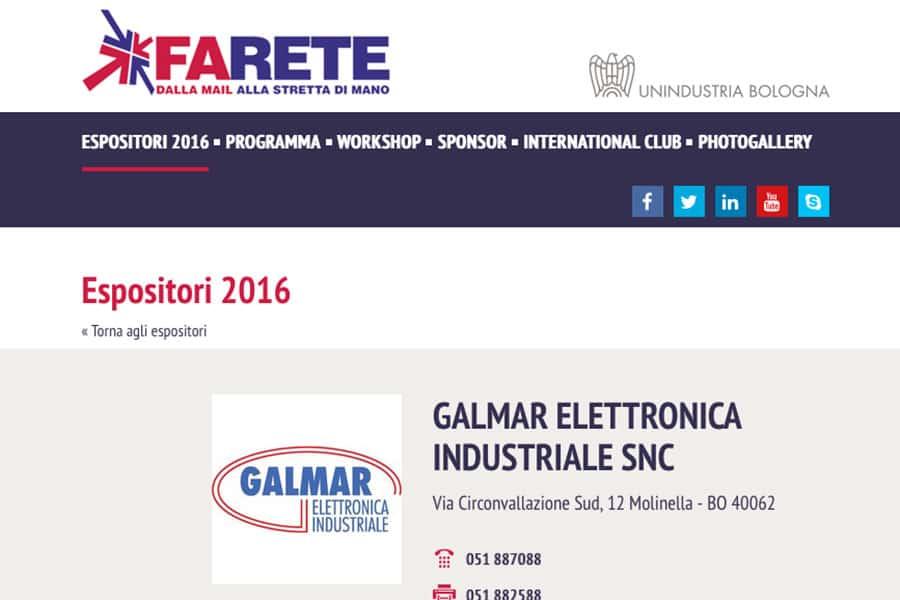 """Presenti al """"Farete 2016"""" BolognaFiere"""