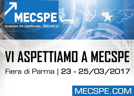 "Present at the 16th edition of ""MECSPE"""