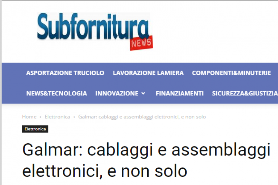 Dicono di noi: subfornituranews.it